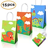 Dinosaur Party Supplies Favors,Dinosaur Party Bags For Dinosaur Theme Birthday Party Decorations Set Of 15