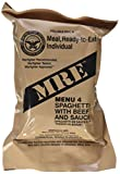 Ultimate 2018 US Military MRE Complete Meal Inspection Date January 2018 or Newer (Spaghetti with Meat Sauce)