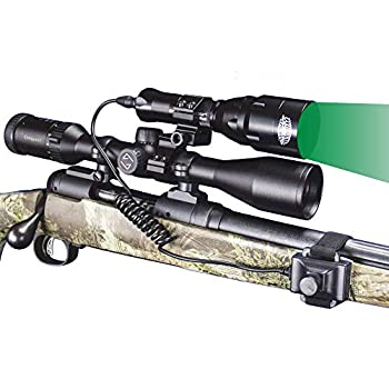 Wicked Lights A48iC Night Hunting Kit with Green Intensity Control LED for Predator varmint & Hog Complete Green led Light kit