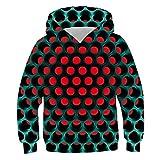 Idgreatim Kind Unisex Hoodies 3D Print Grafik Mädchen Pullover Sweatshirt Jungen Kapuzenpullover L