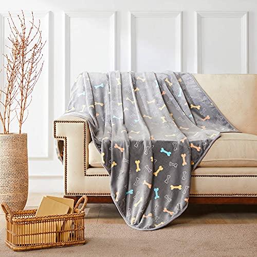 ALLISANDRO 350 GSM Microplush Fleece Throw Blanket
