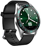 jpantech Smartwatch,Fitness Tracker Smart Watches IP68 Waterproof Fitness Watch with Heart Rate Monitor Pedometer Step Counter Sleep Monitor Stopwatch for Men Women for iPhone Android Phone (Green)