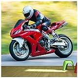 azutura Moto Rouge Papier Peint Photo des Sports Papier Peint Garçons Chambre à Coucher Décor Disponible en 8 Tailles X-Grand Numérique