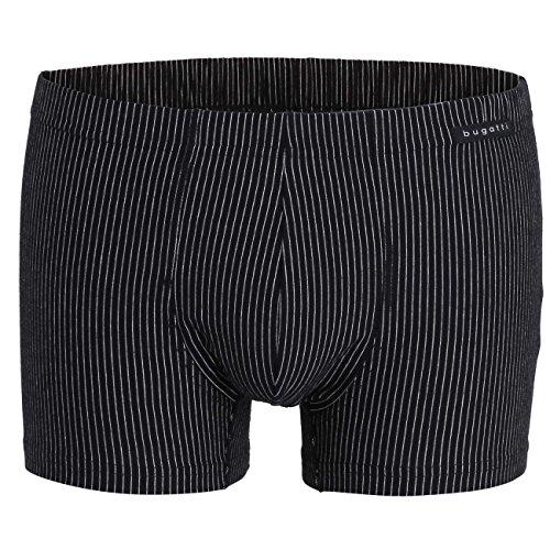 Bugatti Herren Pants, Baumwolle, Single Jersey, schwarz, gestreift 6