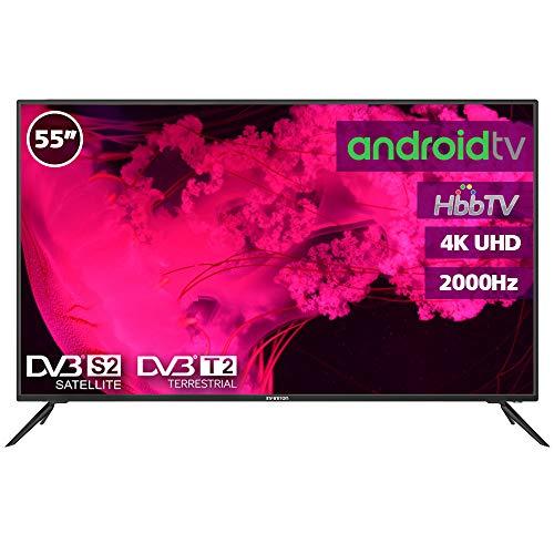 Television LED 55' INFINITON 4K Smart TV-Android TV (TDT2, HDMI, VGA, USB) (55 Pulgadas)