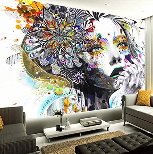 Custom 3D Fotobehang Modern Creatief Geschilderd Bloem Schoonheid Print Poster Ontwerp Aangepaste Woonkamer Slaapkamer…