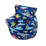 Childrens Bean Bag Chair 100% Cotton 7 Designs Childrens Bean Bag Chair Extra Small (50x50x50cm) For 0-3 Years...