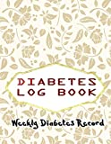 Diabetes Recording Book: Tropical Purple And Blue Floral Diabetic Log Book Gift For Blood Sugar Glucose Monitoring 112 Pages Size 8.5 X 11 INCHES ... Sheet ~ Record - Pink # Work Good Prints.