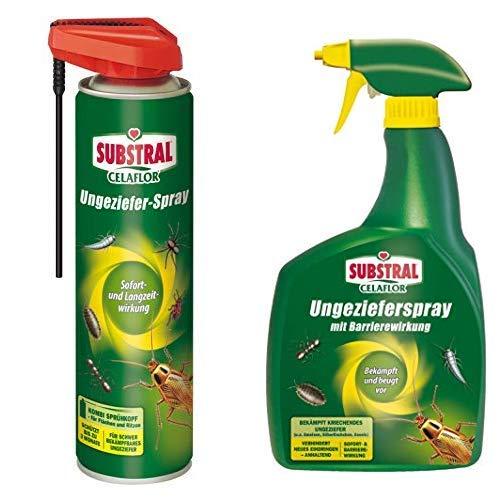 Celaflor Ungeziefer-Spray, geruchlos, 400 ml Sprühdose & Ungezieferspray mit Barrierewirkung & Langzeitwirkung - 800ml Sprühflasche