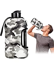 LARGE SPORTS WATER BOTTLE 2.2 LITER WITH CASE GYM WATER JUG BPA FREE GALLON SPORTS WATER BOTTLES – BODYBUILDING WATER BOTTEL