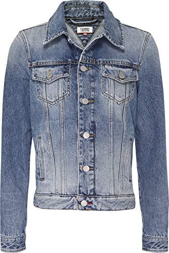 Tommy Jeans Damen Regular Trucker Jacket Irnm Jacke, Iron Mid, 36 (Herstellergröße: Medium)