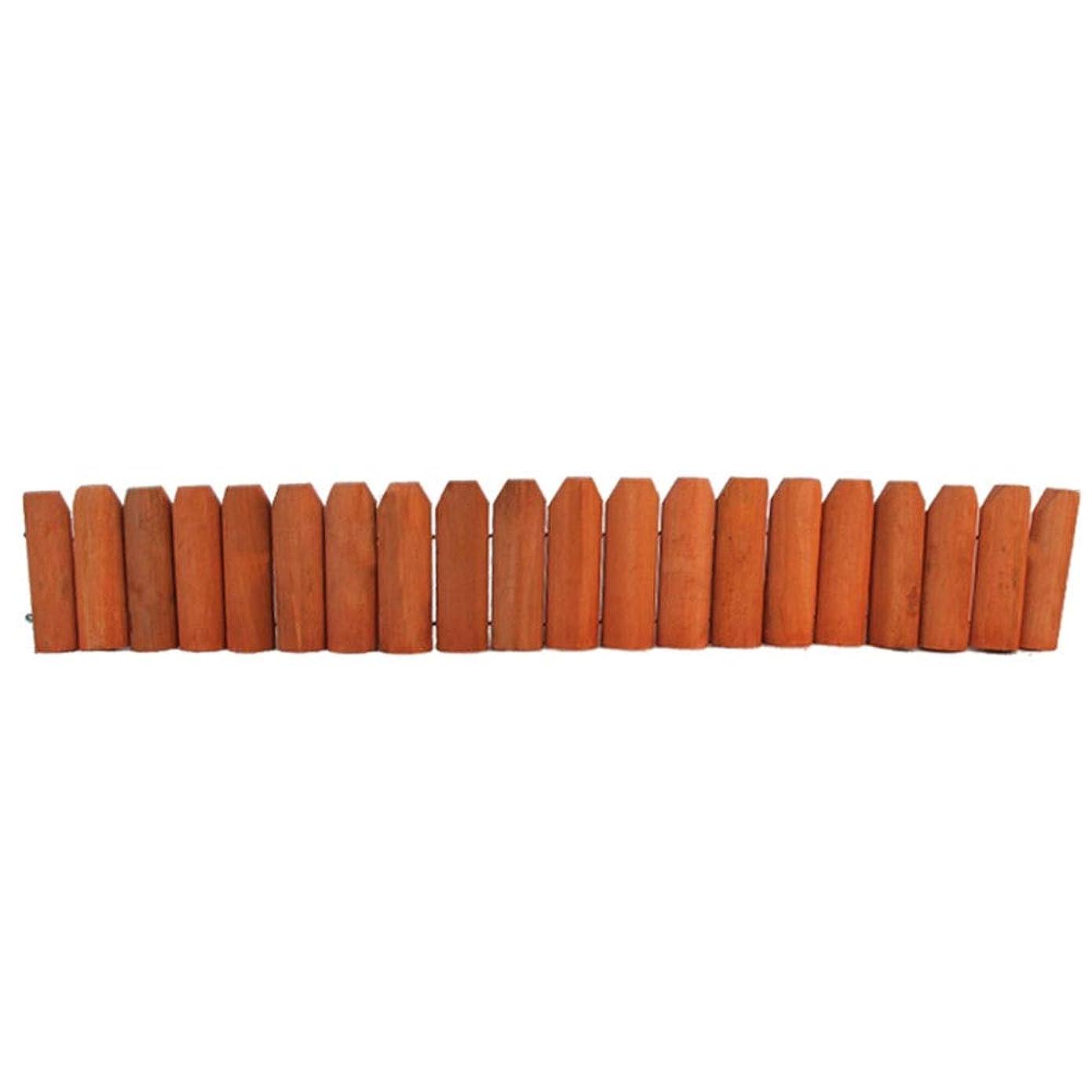 GZHENH 木製ボーダーフェンス プラントガードレール ウッドフェンス 防水 耐食性 環境を守ること フラワープールエッジ 、3色 4サイズ (Color : Orange, Size : 118x18cm)