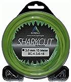 Sharkcut - Filo professionale per decespugliatore in alluminio, filo di nylon, 4 angoli, 3,0 mm, diverse lunghezze
