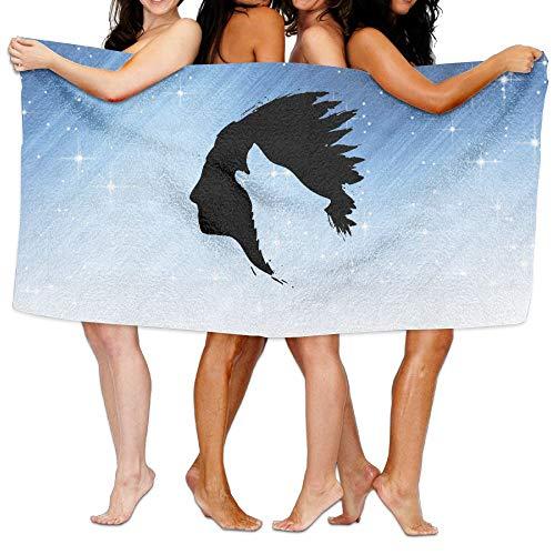 Shenigon Bath Towel Art Wolf Head Customize Thick Large Swim Beach Towels