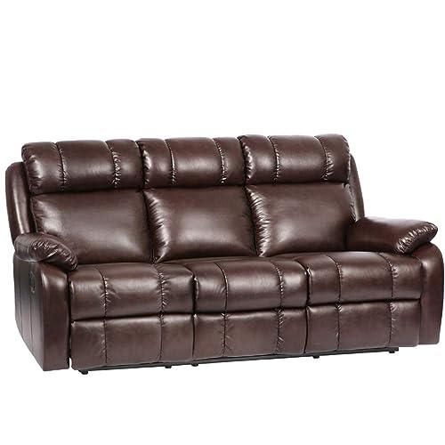 Leather Recliner Sofas: Amazon.com