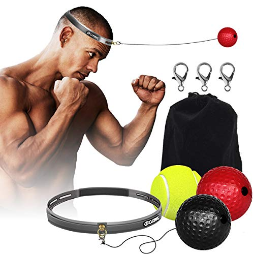 Boxing Fight Ball Reflex for Improving Speed Reactions and Hand Eye Coordination,Boxing Punch Equipment for Boxing, MMA and Other Combat Sports Training and Fitness (1)