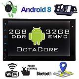 EinCar Stereo Android Auto Doppel-DIN-Auto Bluetooth Stereo 2DIN Autoradio mit Backup-Kamera 7-Zoll-GPS-Navigation für Auto-Video-Spieler In-Schlag Head Unit Support-Spiegel-Link/WiFi/DVR...