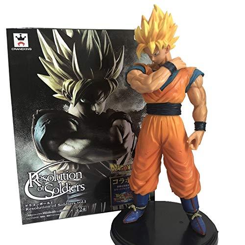 Figura de acción de Dragon Ball Z, Goku, Super Saiyan Awakening, Gohan Padre, bañadores, Vegeta, Modelo Coleccionable en PVC de 23cm del Anime DBZ (Real Boxed)