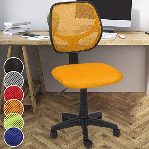 Miadomodo - Silla giratoria de oficina - altura regulable – naranja – diferentes colores a elegir