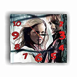 Ron Weasley - Hermione Granger 11.8'' Handmade Wall Clock - Get Unique décor for Home or Office – Best Gift Ideas for Kids, Friends, Parents and Your Soul Mates