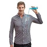 Sepiia Antiarrugas Antimanchas Reciclable Camisa Casual para Hombre