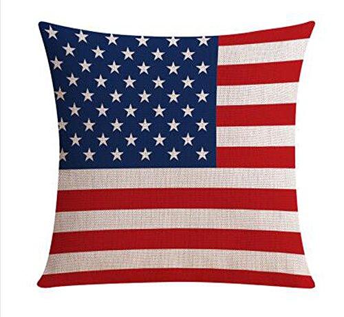 American Flagge rot weiß und blau gestreift Anker Baumwolle Leinen Überwurf Kissenbezug Fall Kissenbezug Sofa Dekorative Quadratisch 45,7cm, baumwolle, 2, Large