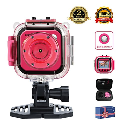 TOPELOTEK Kids Digital Action Camera Waterproof Mini Camera 1.77