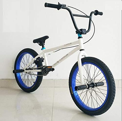 TX Pruebas De Bicicleta De Montaña Deporte Extremo Frenos De Disco 20 Pulgadas Deporte Al Aire Libre Monturas Marco Azul Llantas Blancas Profesional