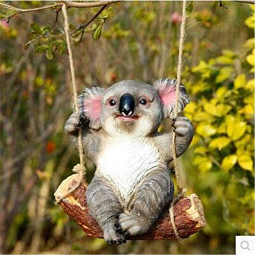 Jambala Resina oscilación Escultura Koala Hace los Ornamentos al Aire Libre, jardín Decorativo Figurita