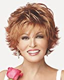 Voltage Large Cap Wispy Bang Short Tousled Raquel Welch Wigs - Color R3329S