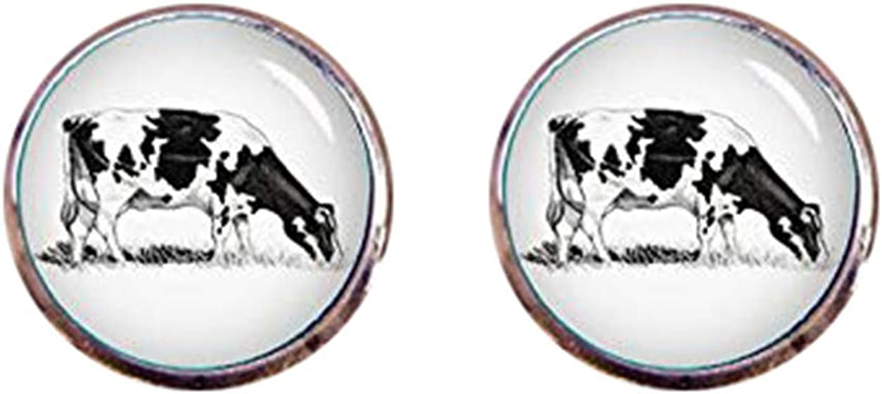Death Devil Art Picture Cuff Links,Dairy Cow Cufflinks, Pencil Art Cufflinks, Custom Animal, Cow Cuff Links, Tie Clips, Wedding Cuff Links, Groom Cufflinks, Tie Bars, Tie Tack,Gift of Love