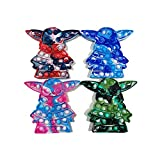 Baby Yoda Stress Relief Toys tie-dye Fidget Toys, Push Bubble Gadgets, Can Reduce The Emotional Stress of Annoying Stress Relief Toys for Children and Adults (4PCS)