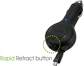 Professional Retractable Car Charger for Samsung Epix Phone with One-Touch button system! (Lifetime Warranty)