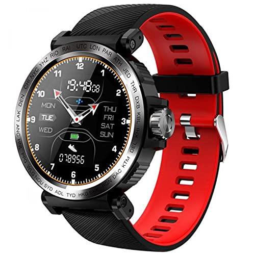 JXFF Smart Watch Multifunzionale, S18 Full Touch Cardiofrequenzimetro Braccialetto Intelligente IP68 per la Pressione sanguigna, Orologio Sportivo Fitness Impermeabile, Compatibile con iOS/Android(B)