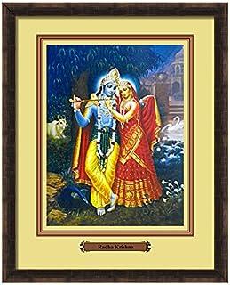 Elegant Arts & Frames Radha & Krishna Multicolour Print 14 x 11 Photo Frame