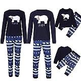 Riou Weihnachten Familie Pyjamas Set Daddy Small Bear Gedruckt Nachtwäsche Schlafanzug Homewear für Kinder Mama Dad Baby Kleidung Set Kinder Pullover PJS Weihnachten Outfits (110, Baby)