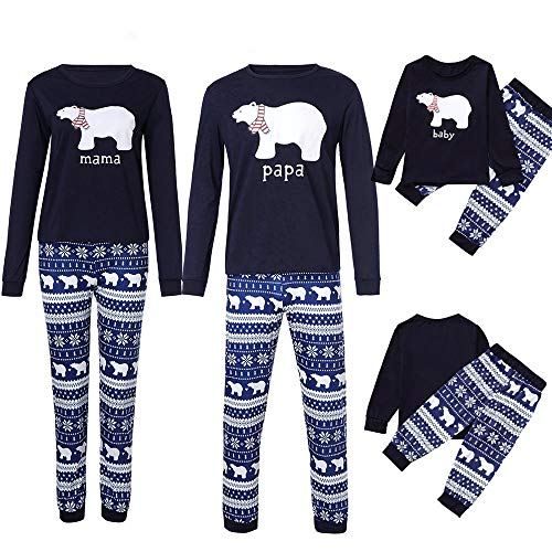 POLP niño Navidad Santa Claus Ropa niñas Unisex Pijama
