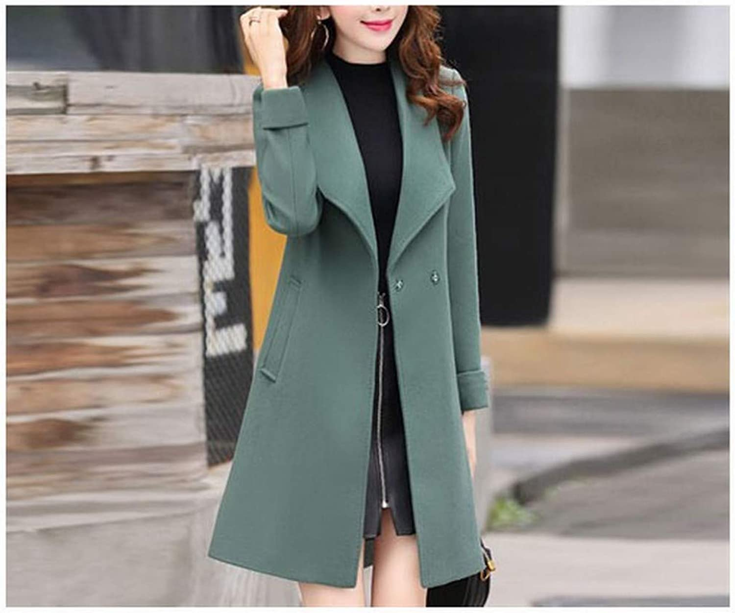 Coat Jacket, Woolen Coat, Woolen Coat, Female Long Temperament Long Sleeve Loose Over The Knee Winter Nizi Coat XQY