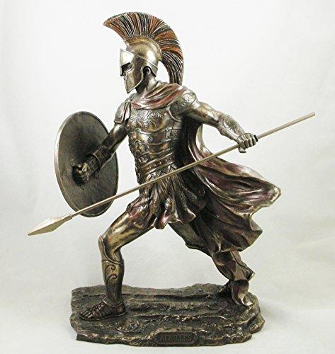Skulptur Achilles antiker griechischer Krieger, bronziert, Statue, Ornament