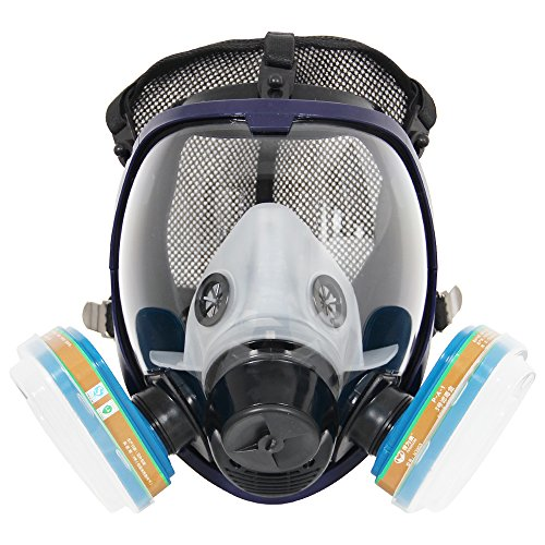 Máscara completa del respirador del juego completo 6800 para la pulverización de pintura, máscara química del polvo, probada por la FDA, dos tipos de conectores 🔥
