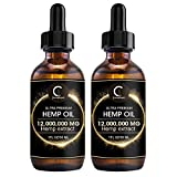Best LG Hemp Oils - (2Pack) GPGP GreenPeople Natural Hemp Oil Extract 12,000,000MG Review