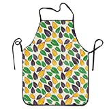 Photo de Fs2A1X Unisex Waterproof Aprons Bstrct Green Lef Kitchen Apron for Cooking Gardening