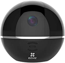 EZVIZ Pan/Tilt Camera 1080p 360° Rotating Dome Security Surveillance Night Vision Auto Motion Tracking Pet Baby Monitor Two Way Audio Compatible with Alexa WiFi 2.4G Only BK CTQ6Tc