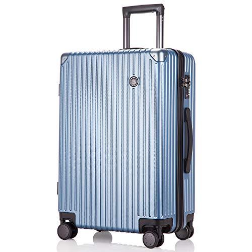 レーズ(Reezu) スーツケース 超軽量 機内持込み キャリーバッグ 8輪 静音 キャリーケース TSAロック付 キャリーバック Sサイズ/Mサイズ/Lサイズ ファスナー式 大型 人気色 ビジネス 旅行 安心の1年保証 ブルー blue Sサイズ 約39