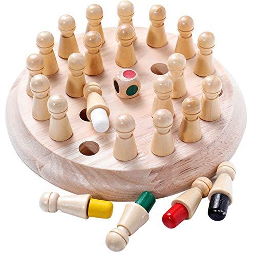 Oulensy Kinder-Party-Spiel aus Holz Memory Match Stick-Schach-Spiel-Spaß-Block Brettspiel Educational Farbe Kognitive Fähigkeit Spielzeug für Kinder