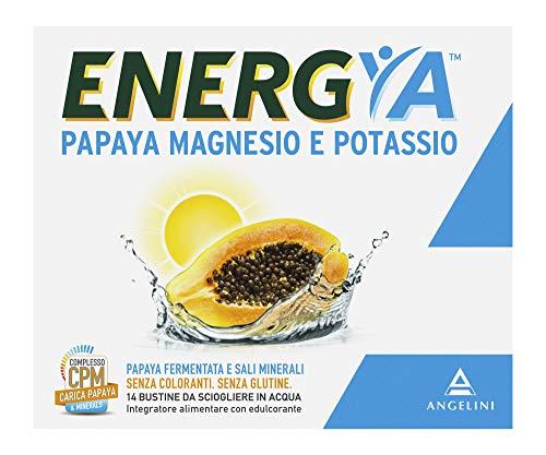 Energya Papaya, Magnesio e Potassio, Integratore Alimentare con Sali Minerali, Integratore Energizzante, Riduce Stanchezza, 14 Bustine