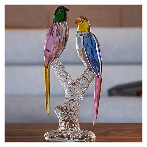 Equipo de vida Decoración de escritorio Adornos de pájaros de cristal Urraca Regalos de boda Inauguración de la casa Sala de estar Gabinete de vino Joyas Pequeños accesorios para el hogar Objetos d