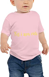 (Yes i am Cute) Baby Jersey Short Sleeve Tee- Make Your...