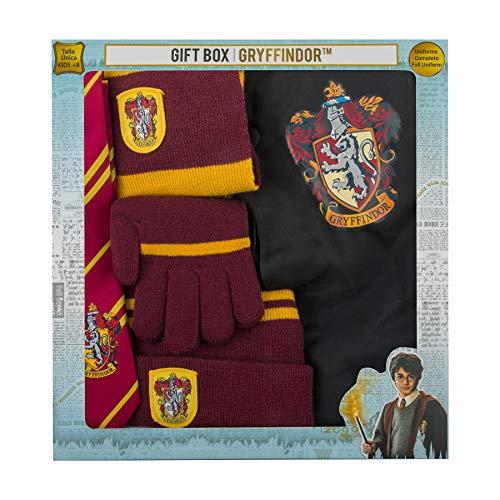 Cinereplicas- Brandecision-Caja Regalo Harry Potter Kids Gryffindor(Capa,Corbata,Gorro,Guantes y Bufanda), Multicolor, niño (Redstring 5 piezas)