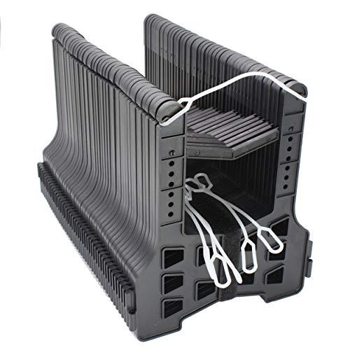 X-Haibei 20 Foot RV Sewer Hose Holder Deep Cradles Lightweight Sturdy Black Support